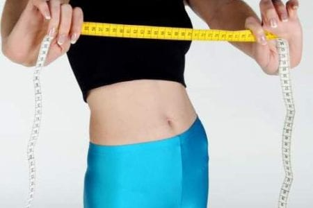 Young Women With Weight Measurable Tape