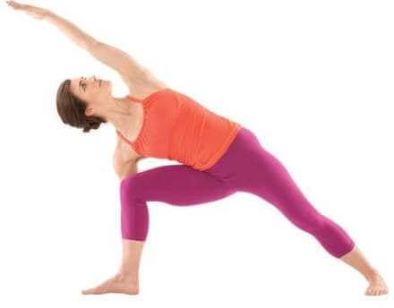 Practicing vinyasa yoga