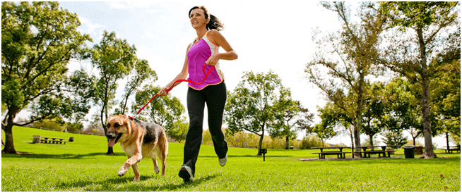 Morining Walk with Dog Young Women - Top Workouts That Slow Down Ageing