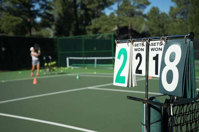 tennis score board - Tennis as a Fun, Viable, and Effective Workout Regimen