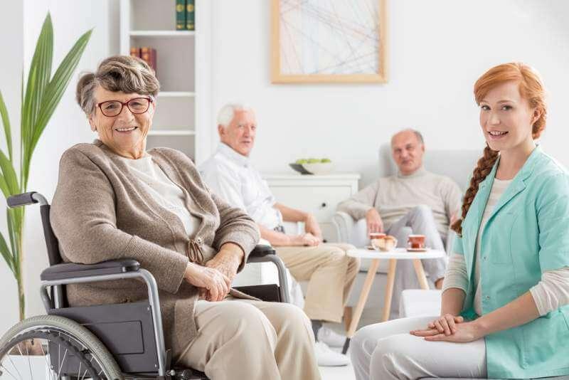 Senior on a wheelchair