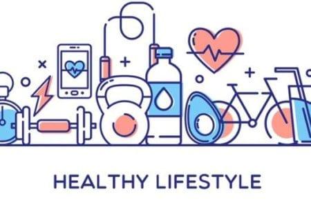 Healthy Lifestyle Vector Illustration