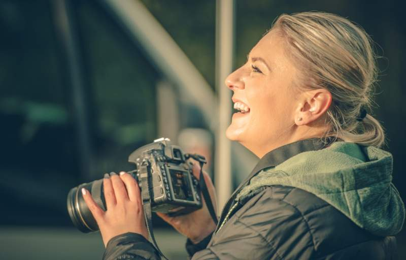 happy-female-photographer