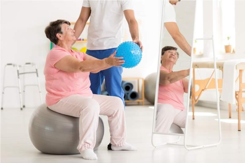 senior-woman-on-exercise-ball