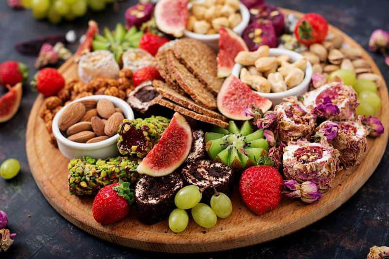 mix-fruits-and-nuts-healthy-diet-turkish-sweets