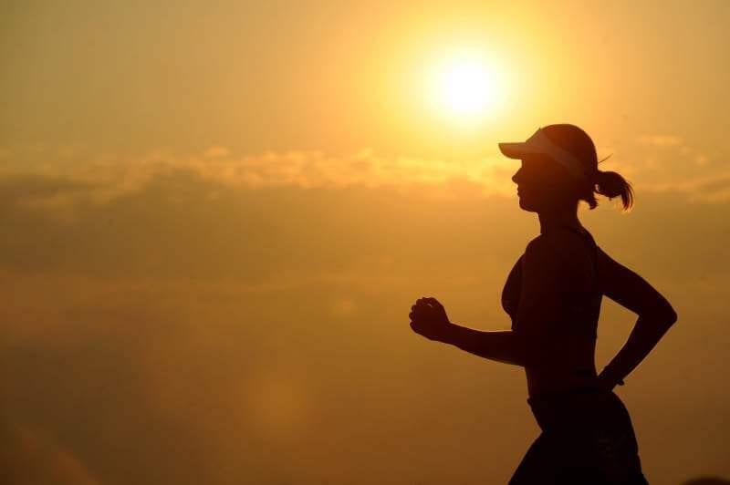 Women running morning