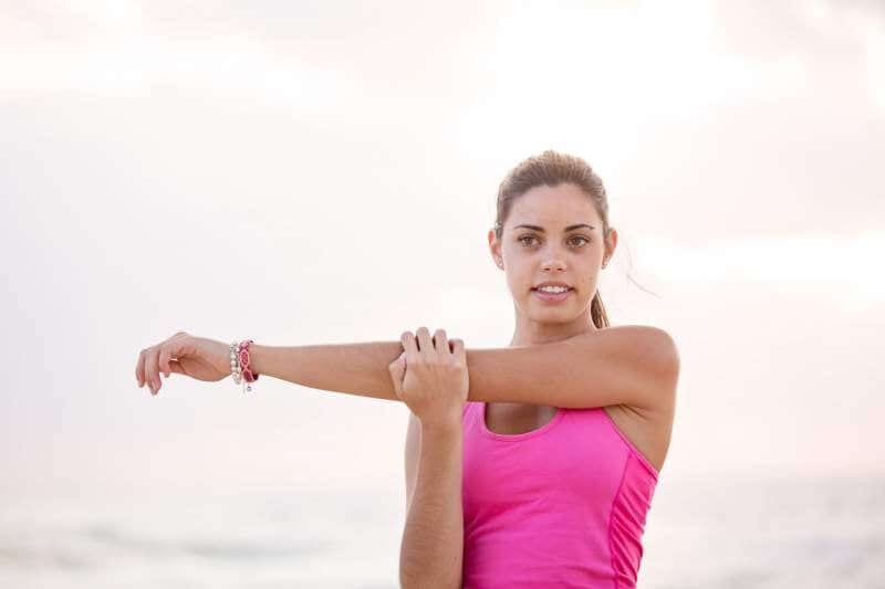 Young women exercise