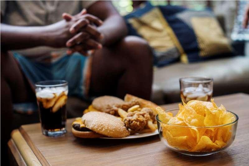 fast-food-on-a-sofa-table