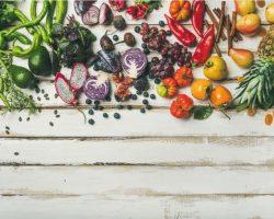 flat-lay-of-fresh-fruit-vegetables-greens