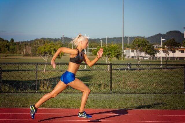 sports women running practice