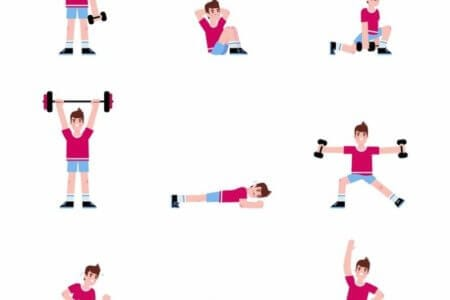 Man Doing a Series of Exercises