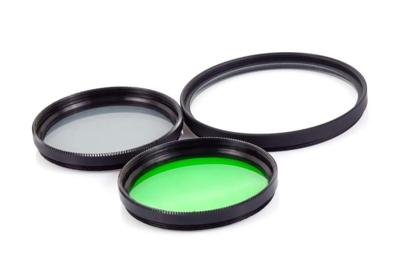 Filter For Lenses On White