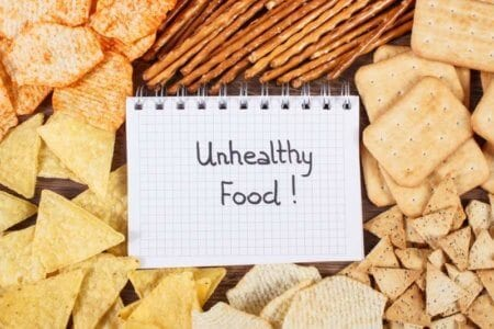 inscription-unhealthy-food-in-notebook-and-heap