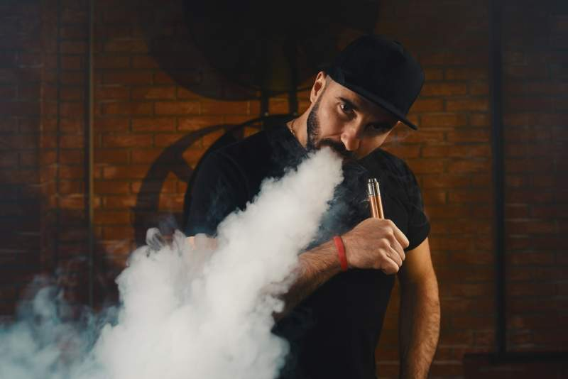man-vaping-an-electronic-cigarette