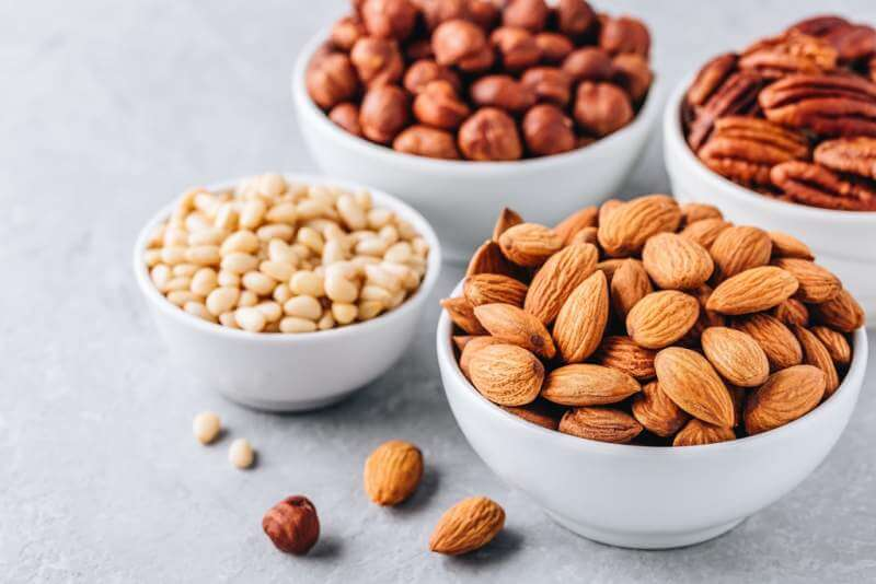almonds-pecans-pine-nuts