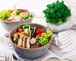 buddha-bowl-dish-with-chicken-fillet-quinoa