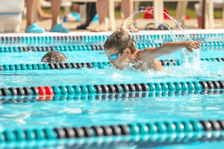 child swiming
