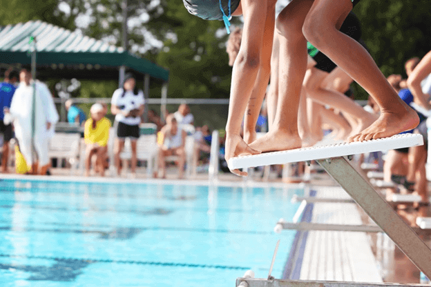 child swiming ready