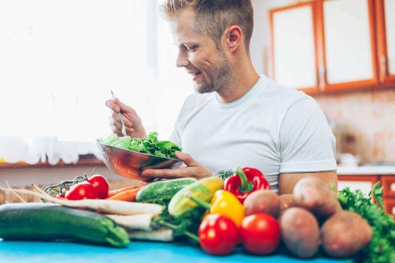 a-man-at-home-on-a-diet