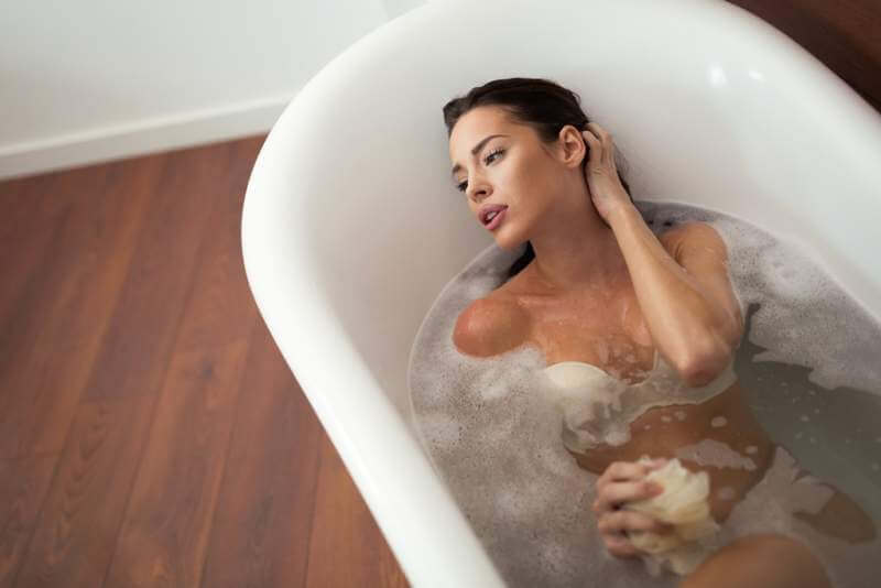 beautiful-woman-having-a-bubble-bath