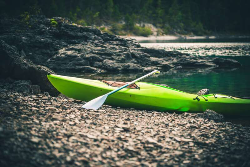 pro-kayak-on-the-lake-shore